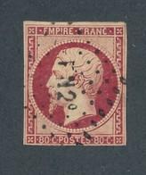 FRANCE - N°YT 17 OBLITERE LOSANGE DES AMBULANTS FN 2° - 1854 - 1853-1860 Napoléon III
