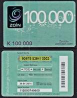 Tc048 ZAMBIA  Zain,  K100,000,  Used - Zambia