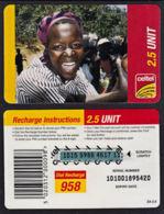 Tc043  ZAMBIA,  Celtel,  Laughing Lady,  2.5 Units,  Used - Zambia