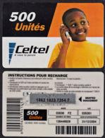 Tc038 DR CONGO, Celtel, Boy On Phone, 500 Unités, Used - Congo