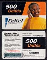 Tc037 DR CONGO, Celtel, Boy On Phone, 500 Unités, Used - Congo