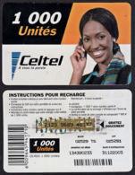 Tc031 DR CONGO, Celtel, Lady On Phone, 1000 Unités, Used - Congo