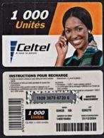 Tc029 DR CONGO, Celtel, Lady On Phone, 1000 Unités, Used - Congo