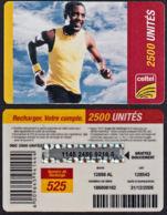 Tc026 DR CONGO, Celtel, Man Running, 2500 Unités, Used - Congo