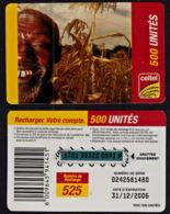 Tc024 DR CONGO, Celtel, Man In Cornfield, 500 Unités, Used - Congo