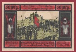 Allemagne 1 Notgeld 50 Pfenning Stadt Türingen (RARE )  Dans L 'état   Lot N °4184 - Collections