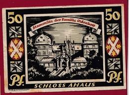 Allemagne 1 Notgeld 50 Pfenning Stadt Ahaus (RARE )  Dans L 'état   Lot N °4186 - [ 3] 1918-1933 : République De Weimar