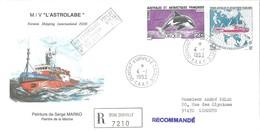 TAAF - Dumont D'Urville-T.Adélie: Lettre Avec Timbres N°177 Orque Et N°181 L'Astrobale - 04/01/1993 - Lettres & Documents