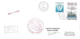 TAAF - Dumont D'Urville-T.Adélie: Lettre Avec Timbres N°171 Armoiries Et N°174 Marion Dufresne - 04/01/1993 - Lettres & Documents