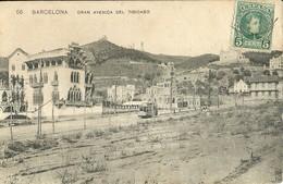 "4677"" BARCELONA-GRAN AVENIDA DEL TIBIDABO ""TRAMWAY-CART. POST. OR. SPED. 1909 - Barcelona"