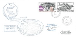 TAAF - Dumont D'Urville-T.Adélie: Lettre Avec Timbres N°176 Skua Et Poste Aérienne N°125 Radio Amateurs - 04/01/1993 - Lettres & Documents