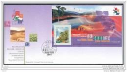 FDC De China Chine : (17) Exposition De Timbre De Hong Kong 2001 (série No.3) SG MS1028 - 1997-... Région Administrative Chinoise