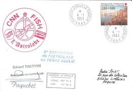TAAF - Dumont D'Urville-T.Adélie: Lettre L'Astrobale Avec Timbre France N°2733 Croix-rouge - 04/01/1993 - Lettres & Documents