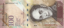VENEZUELA 100 BOLIVARES 2015 UNC P 93 I - Venezuela