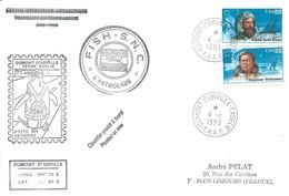 TAAF - Dumont D'Urville-T.Adélie: Lettre L'Astrobale Avec Timbres USA N°1668 Et 1670 Explorateurs - 04/01/1993 - French Southern And Antarctic Territories (TAAF)