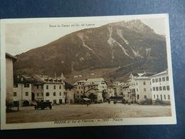 19936) TRENTO MOENA VAL DI FIEMME PIAZZA VIAGGIATA 1935 BELLISSIMA - Trento