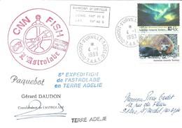 TAAF - Dumont D'Urville-T.Adélie: Lettre L'Astrobale Avec Timbres Australian Antartic Territory N°88 Et 91 - 04/01/1993 - Lettres & Documents