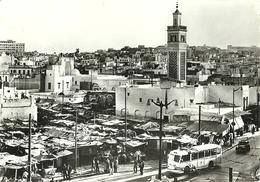 """4680"""" TUNIS-PLACE ALDJAZIRA """"ANIMATA-CART. POST. OR. SPED. 1956 - Tunisia"""