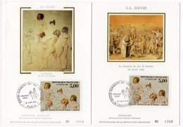 Carte Maximum 1989 -  David : Serment Du Jeu De Paume  YT 2591 - Paris Et 78 Versailles - Maximum Cards