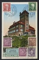 Jeschkenhaus Auf Dem Jeschken, Sloup V Čechach Bürgstein, Praha - Ferryville Tunisie, Československo, Czechoslovakia - Tchéquie
