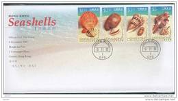 FDC De China Chine : (21) 1997 Hong Kong - Coquilles De Mer SG911/4 - 1997-... Región Administrativa Especial De China