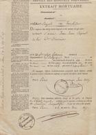 1837: Service Des Hopitaux Militaires: EXTRAIT MORTUAIREde ## Jean JOSSE: Caporal De La 6ième Division,  Né à Lokeren - Documentos Históricos