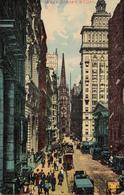New York City - Wall Street - Written 1911 (?) - Stamp Postmark - 2 Scans - New York City