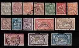 Port Said - YV 20 à 34 Oblitérés Complete , Belles Obliterations , (le 1c Neuf, Le 5 C Charniere) Cote 95 Euros - Port Said (1899-1931)