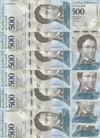 VENEZUELA 500 BOLIVARES 2016 UNC P 94 A ( 10 Billets ) - Venezuela