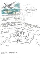 TAAF-Dumont D'Urville-T.Adélie: Carte Illustrée PEV Avec Timbre PA N°128 Inauguration De La Piste - 21/01/1993 - Lettres & Documents