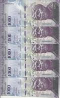 VENEZUELA 1000 BOLIVARES 2017 UNC P 95 B ( 5 Billets ) - Venezuela