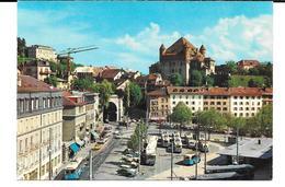 Cpsm Lausanne - La Place Du Tunnel Et Le Château . - VD Vaud