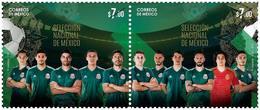 2018 Selección Nacional De México FÚTBOL, FOOTBALL SOCCER WORLD CUP RUSSIA   STAMP SET MNH - Mexico