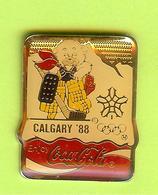Pin's Coca-Cola JO Jeux Olympiques Calgary 1988 Hockey - 7GG15 - Coca-Cola