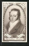 AK Gioachino Rossini Im Portrait, Notenzeilen - Artisti