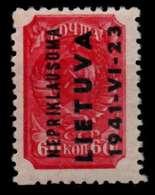 BES 2WK LITAUEN Nr 8 Postfrisch X70799E - Besetzungen 1938-45