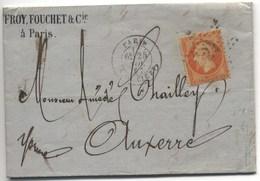 LAC 1867 - Etoile 24 De Paris - R. DE CLERY - Storia Postale