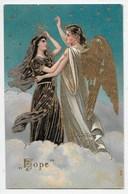 Hope - Gold Embossed Angel - Holidays & Celebrations