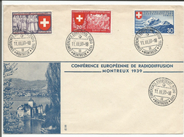 Lettre, Cachet, Conférence Européenne Radio 1939, Montreux (11.3.1939) - Marcophilie