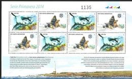 J) 2014 URUGUAY, PRIMAVERA SERIES, WOLF FLOUR, SOUTH AMERICAN MARINE LION, SOUVENIR SHEET, MNH - Uruguay
