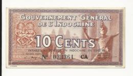 Indochina 10 Cents Payables Au Porteur En Indochine En Espèces - Indochina