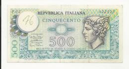 Italy 500 Lire 1974 Written At Left - [ 2] 1946-… : Républic