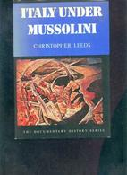 Italy Under Mussolini Christopher Leeds - Europa