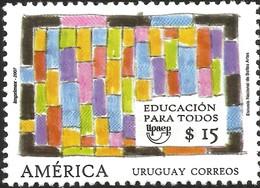 J) 2007 URUGUAY, EDUCATION FOR ALL, NATIONAL SCHOOL OF FINE ARTS, MNH - Uruguay