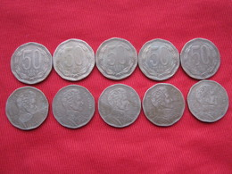 Chile 50 Pesos 2008 Error Chiie 219.3 - Chile