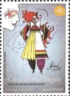 J) 2013 URUGUAY, CARNIVAL IN URUGUAY, JUAN MASCHERONI DRESS DESIGN, MNH - Uruguay