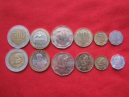 Chile Lote 6 Monedas Diferentes KM 231,232,228,219,236.235 - Chile