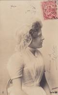 1903 CPA. YOUNG WOMAN FOLK DRESSED. CIRCULEE URUGUAY- BLEUP - Femmes
