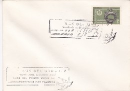 1987 COVER SPECIAL URUGUAY. LLEGADA DEL PRIMER VUELO DE CORRESPONDENCIA POR PALOMAS- BLEUP - Uruguay