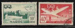 French Morocco Scott # C42-3 Used Fort, Plane, 1952 - Marocco (1891-1956)